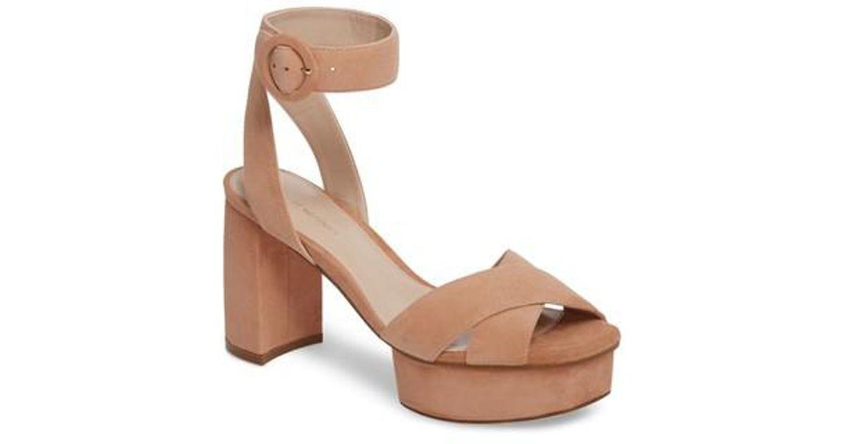 004fa22d676 Lyst - Stuart Weitzman Carmina Ankle Strap Platform Sandal