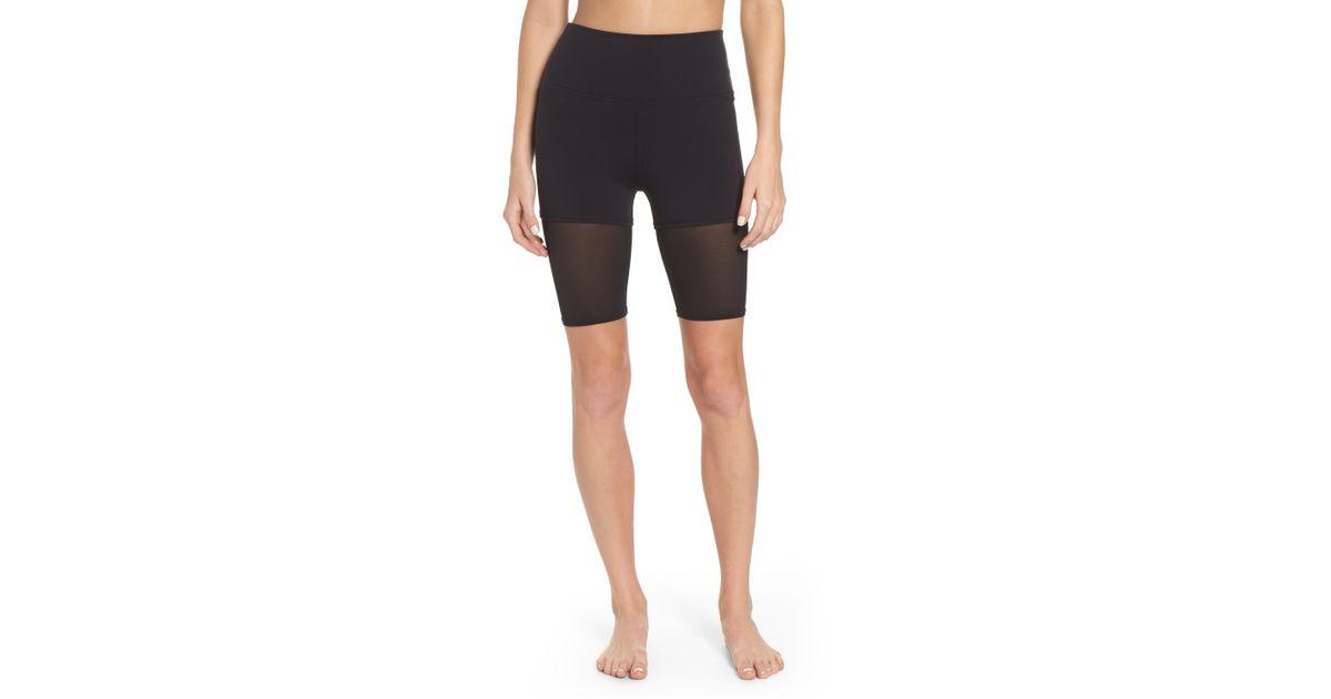 4aa7daad76 Alo Yoga High Waist Shorts in Black - Lyst