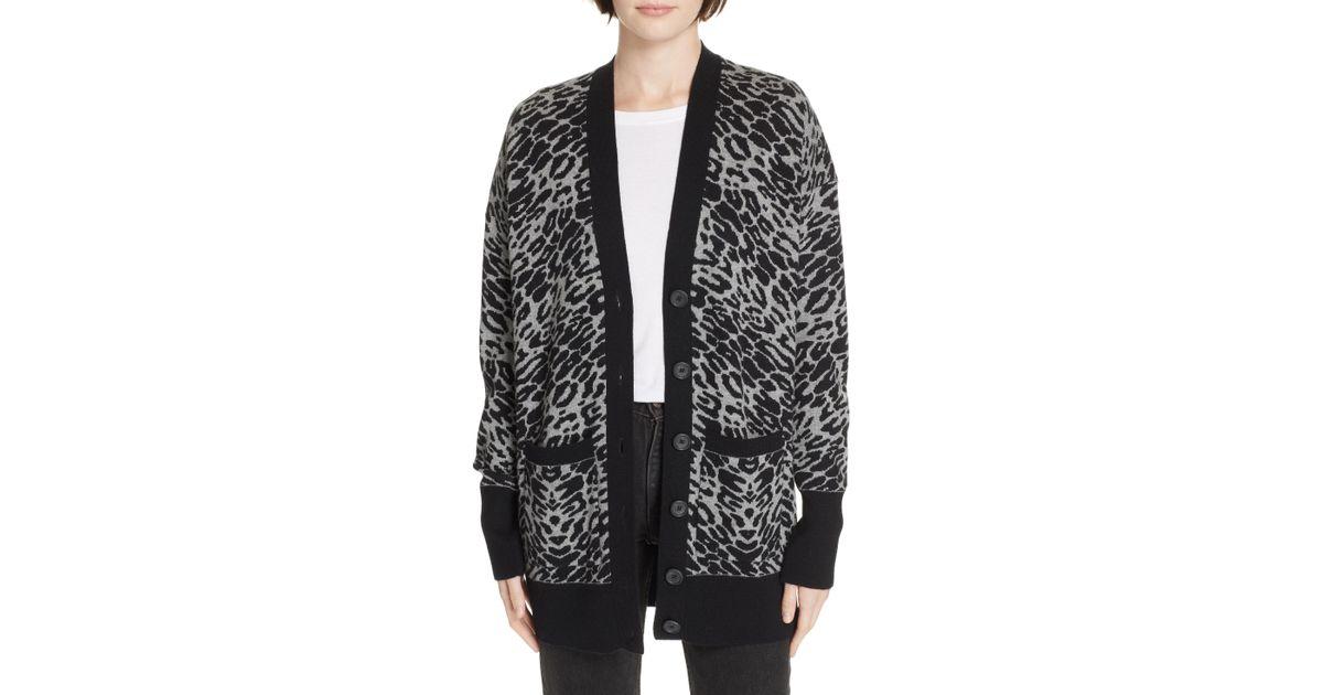 6ccde3435706 Lyst - Equipment Fenwick Animal Print Sweater in Black