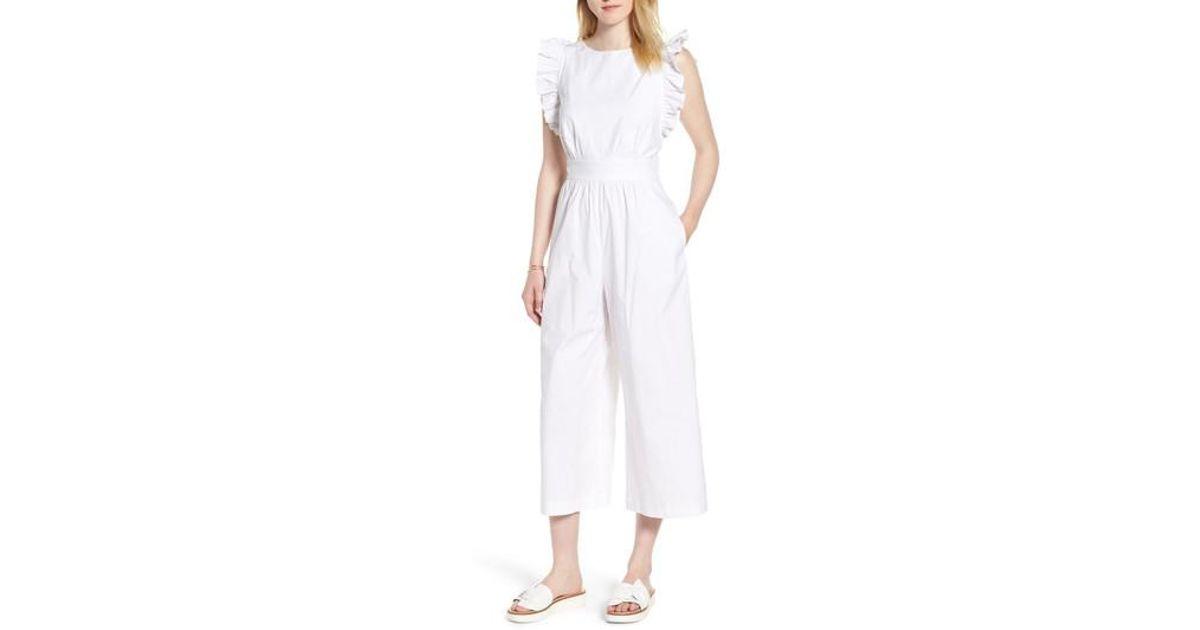 ef6f8effde6 Lyst - Nordstrom 1901 Ruffle Sleeve Jumpsuit in White