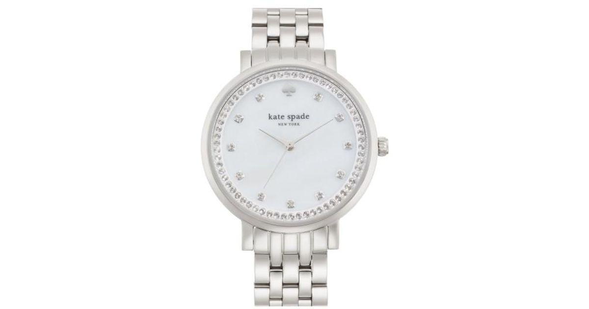 d36fb1ac213 Lyst - Kate Spade  monterey  Crystal Dial Bracelet Watch in Metallic