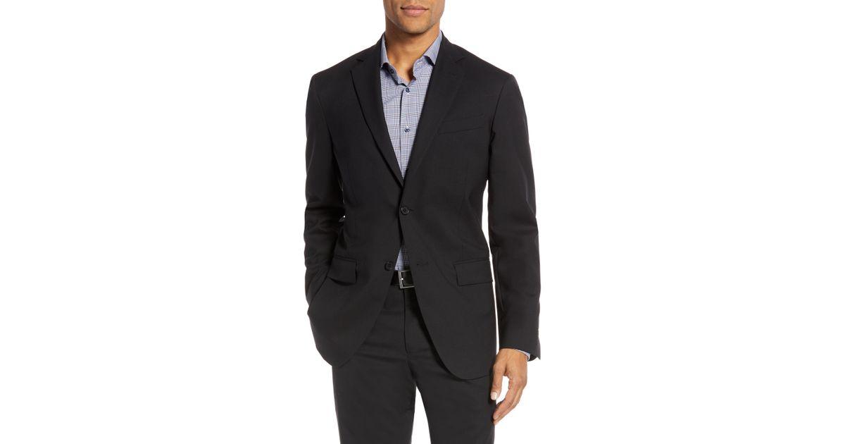 57d14601356 Lyst - Nordstrom Tech-smart Trim Fit Stretch Wool Travel Sport Coat in Blue  for Men