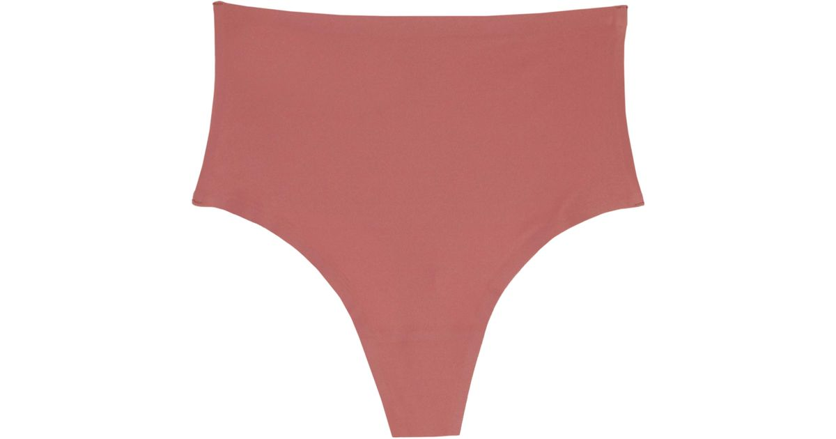 a6408fd8872 Lyst - Chantelle Soft Stretch Seamless Retro Thong in Red