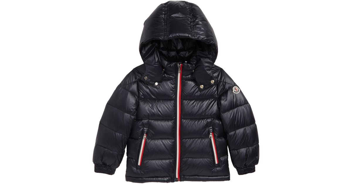 609268c57ac2 Lyst - Moncler Gastonet Hooded Water Resistant Down Jacket in Black