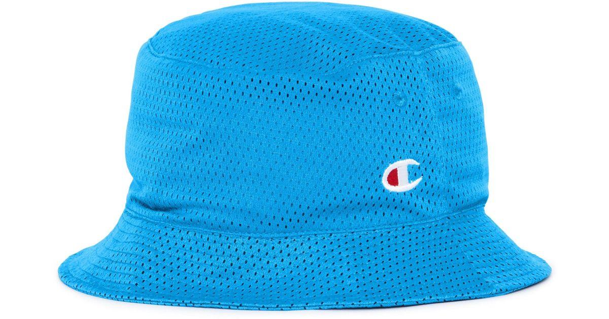 Lyst - Champion Reversible Mesh Bucket Hat in Blue for Men 7bacf4ee0e0