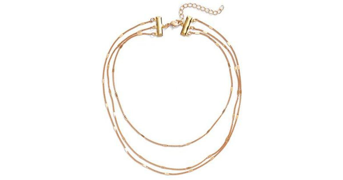Monaco Prelayer Necklace in Metallic Gold Frasier Sterling w8xcg