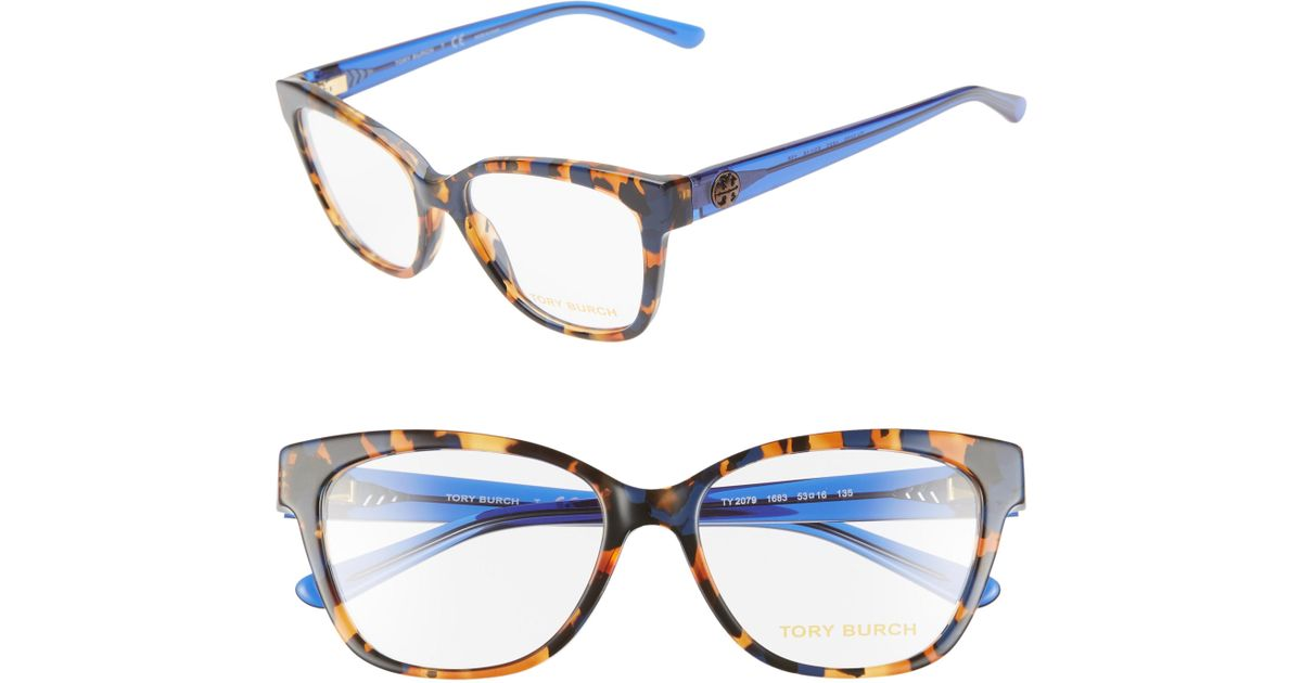39f9759160 Lyst - Tory Burch 53mm Optical Glasses in Blue