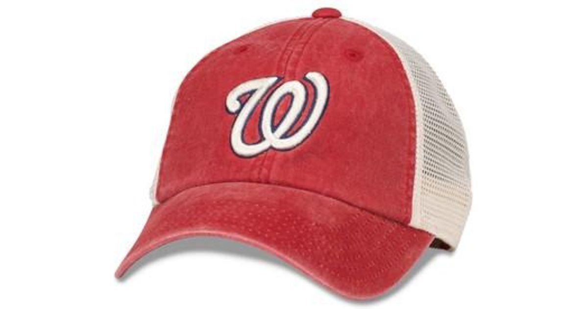 8423cd92ccf Lyst - American Needle New School Mlb Trucker Hat in Red for Men