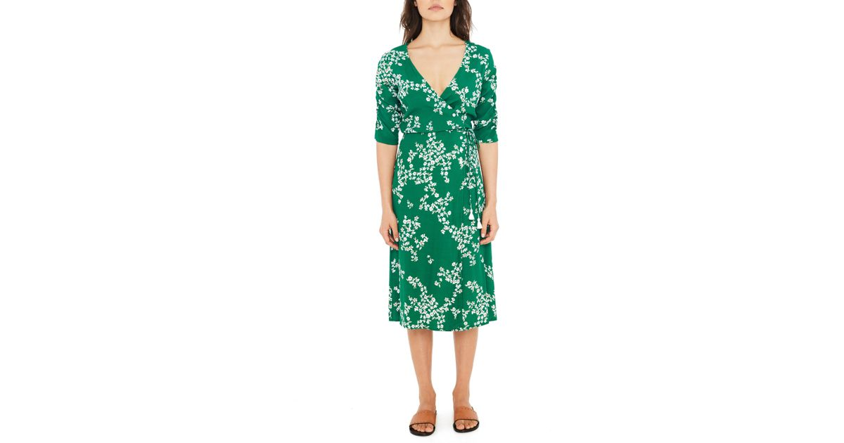 81d6dee921af Faithfull The Brand Anne Marie Floral Print Midi Dress in Green - Lyst