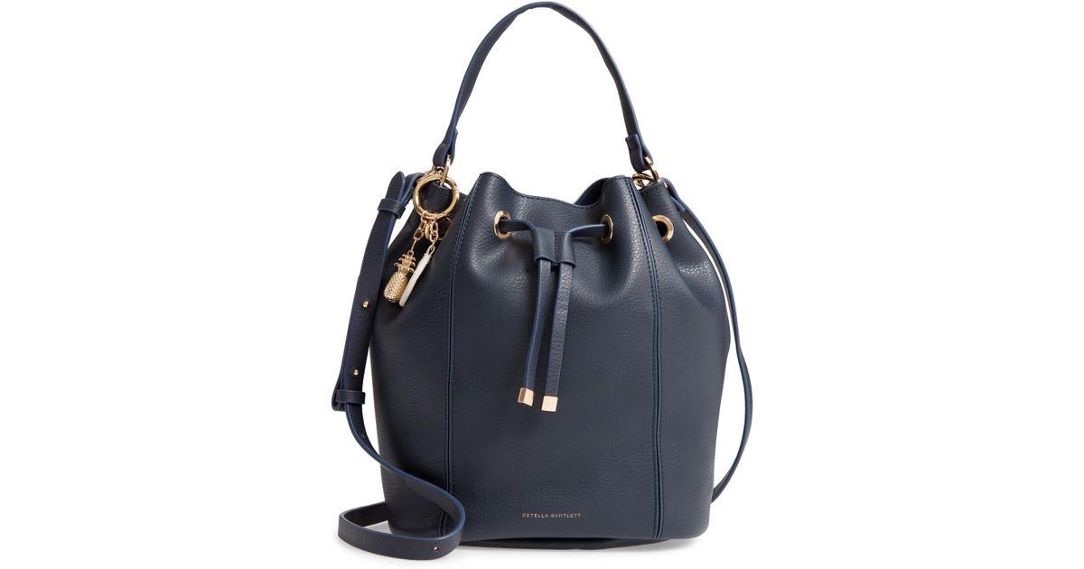 Lyst - Estella Bartlett Copperfield Faux Leather Drawstring Bag in Blue b46f8eca3eae3