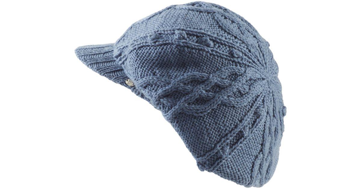 Lyst - Helen Kaminski Knit Merino Wool Baker Boy Cap in Blue 322fd55eaa9c