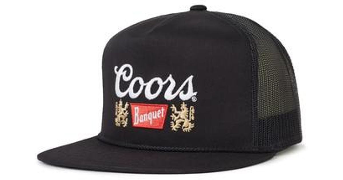 Lyst - Brixton Coors Banquet Primary Trucker Cap in Black for Men ff8d54a0a6e