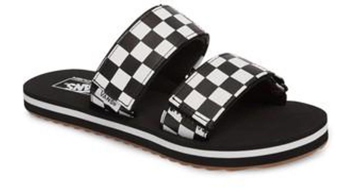 db85544465b Lyst - Vans Cayucas Slide Sandal in Black