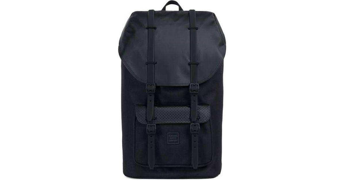 a1440559d9 Lyst - Herschel Supply Co. Little America Polycoat Studio Backpack in Black  for Men
