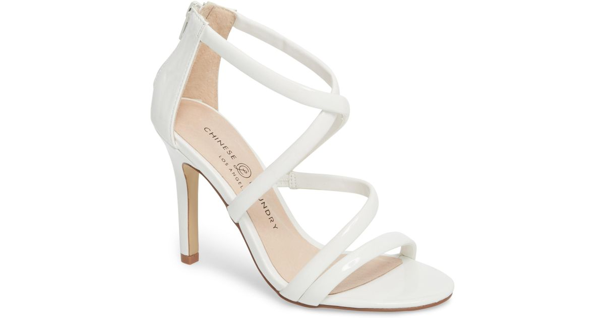 eb02157dda Lyst - Chinese Laundry Jillian Strappy Sandal in White