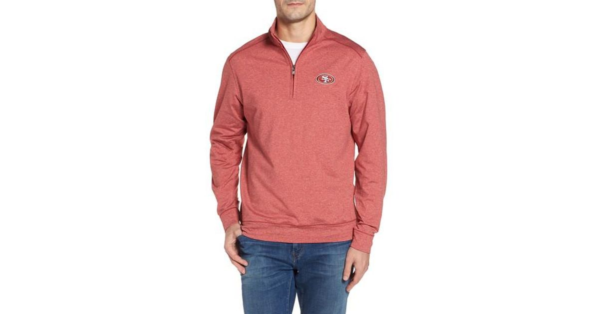 c46c0b3ec Lyst - Cutter   Buck Shoreline - San Francisco 49ers Half Zip Pullover in  Pink for Men