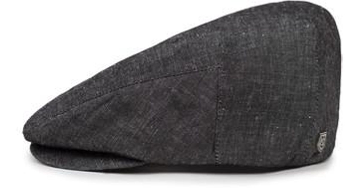 Lyst - Brixton Hooligan Driving Cap in Black for Men 9ae1e821aa2