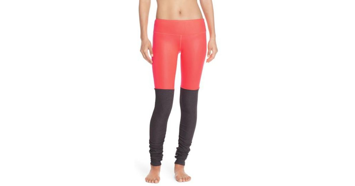 a541d3c213850 Lyst - Alo Yoga 'goddess' Ribbed Leggings in Red