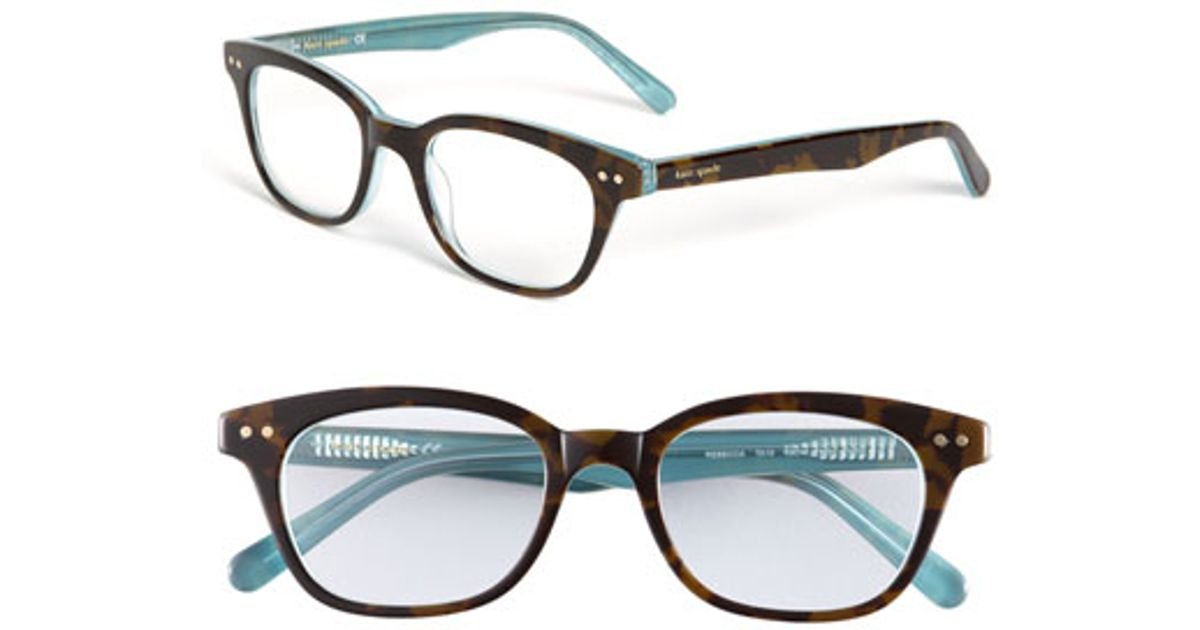 kate spade 49mm reading glasses in blue lyst