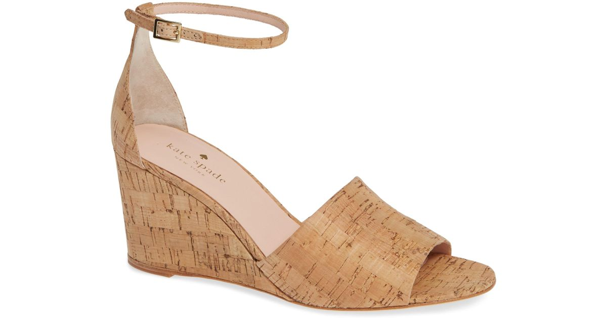43a97bc3e0bd Lyst - Kate Spade Halo Strap Wedge Sandal in Natural