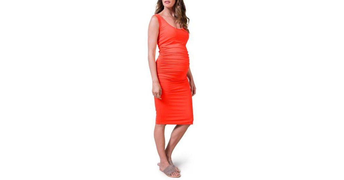 b706d6112bf Lyst - Isabella Oliver  ellis  Tank Maternity Dress in Red
