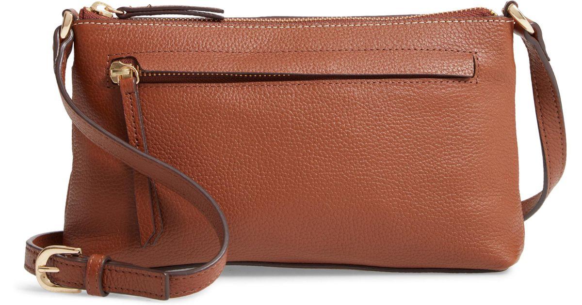 b2a9a8b6329d Lyst - Nordstrom Mya Leather Crossbody Bag