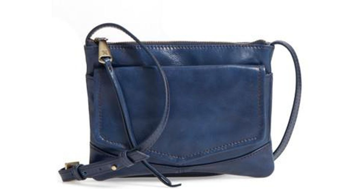 04c201278577 Lyst - Hobo Amble Leather Crossbody Bag in Blue