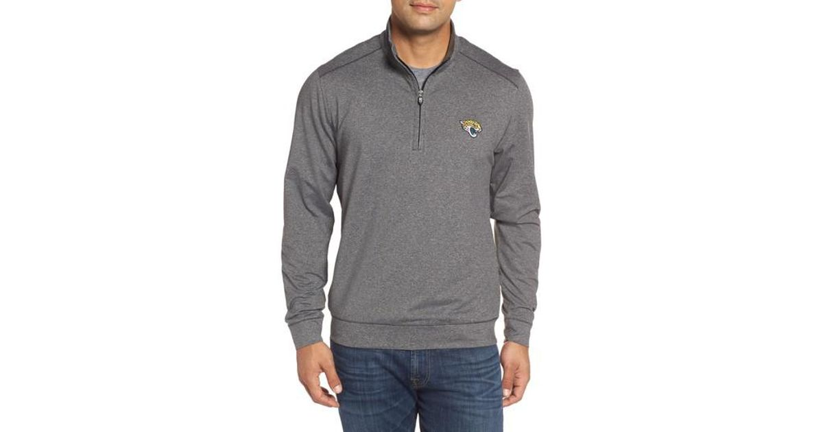 Lyst - Cutter   Buck Shoreline - Jacksonville Jaguars Half Zip Pullover in  Gray for Men 9fa9e092d