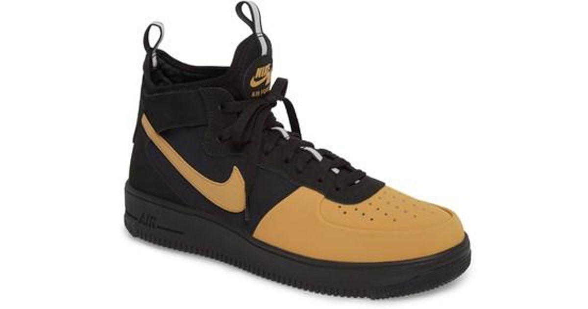 Lyst - Nike Air Force 1 Ultraforce Mid Tech Sneaker in Black for Men 63598b804