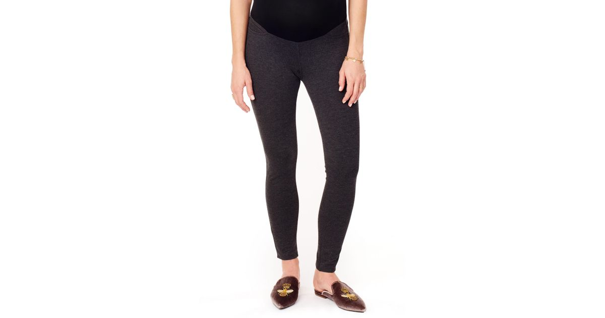 fa5a3e87ee658 Lyst - Ingrid & Isabel Ingrid & Isabel Ponte Knit Skinny Maternity Ankle  Leggings in Gray