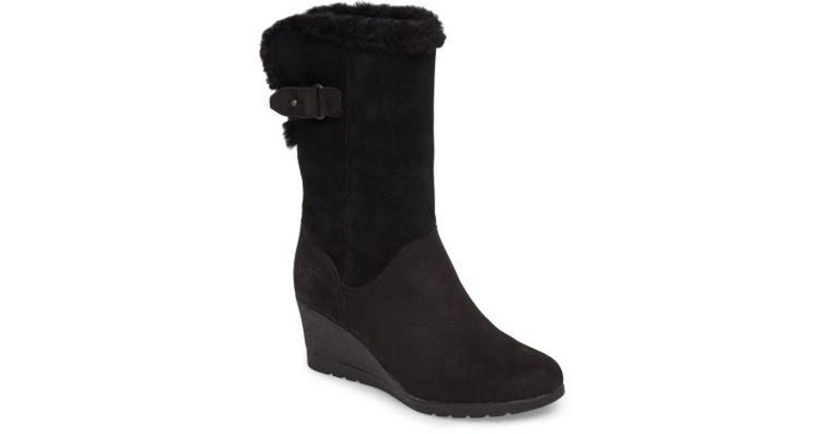 eaf9546ad913 Lyst - UGG Ugg Edelina Wedge Boot in Black