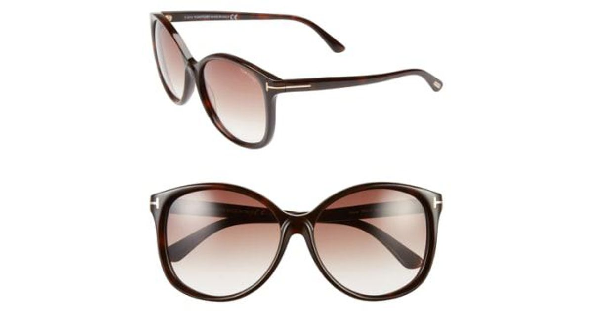 975ac89d750 Lyst - Tom Ford  alicia  59mm Sunglasses - Havana in Brown