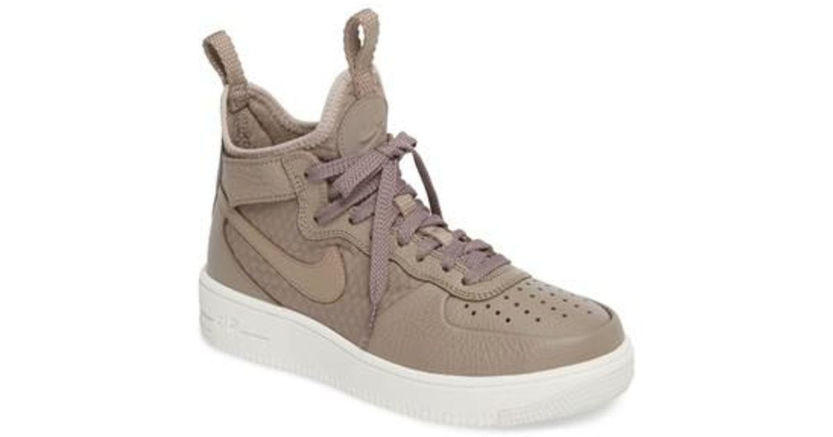 Lyst - Nike Air Force 1 Ultraforce Mid Sneaker in Brown for Men 827fcea9a