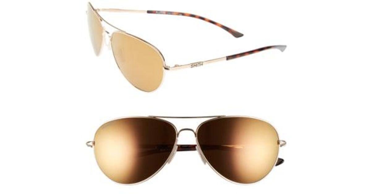 a12da0e45d308 Lyst - Smith  audible - Chromapop  60mm Polarized Aviator Sunglasses in  Metallic