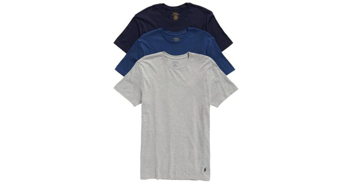Lyst - Polo Ralph Lauren Classic Fit 3-pack Cotton T-shirt, Blue in Blue  for Men 33bdf2dc3a9a
