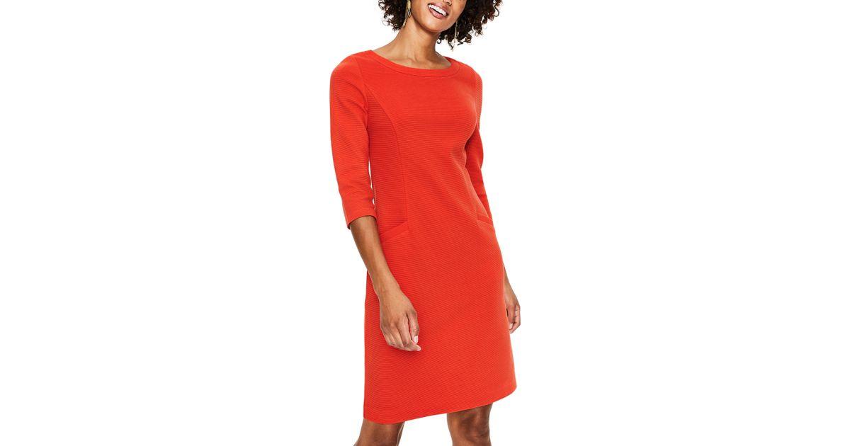 Lyst Boden Jasmine Ottoman Dress In Orange