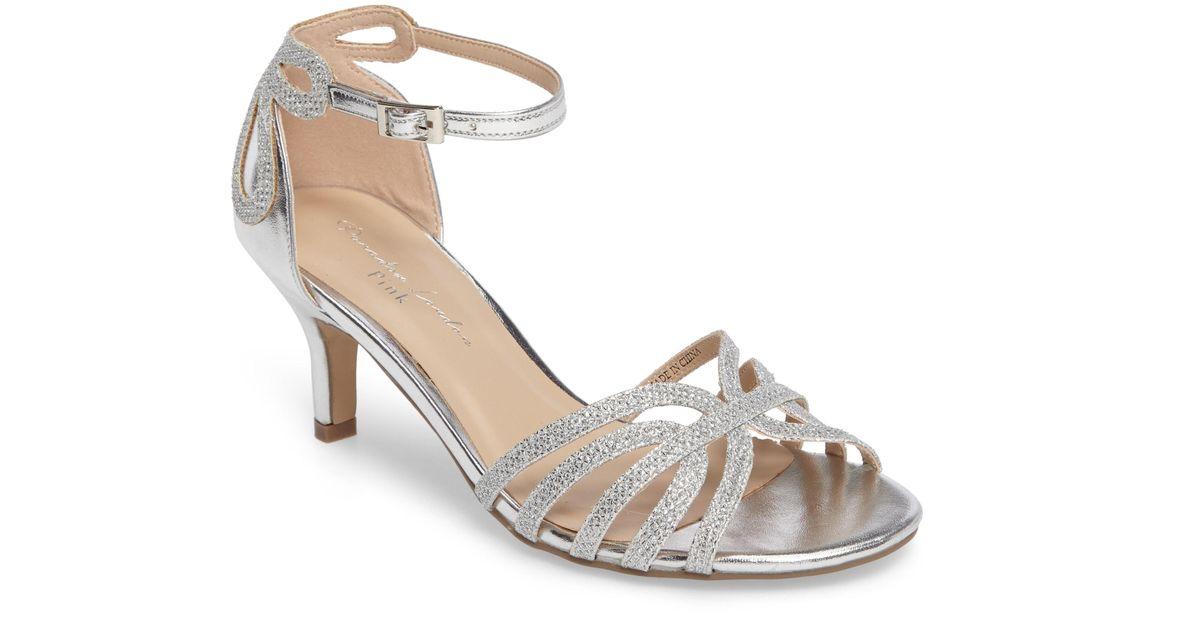 17b971eefba Lyst - Paradox London Pink Melby Ankle Strap Sandal in Metallic