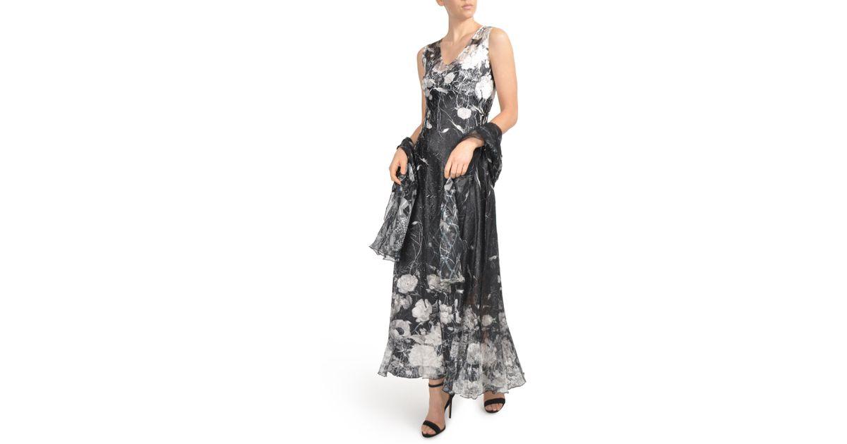 e8e9594338 Lyst - Komarov Lace-up Back Maxi Dress With Wrap