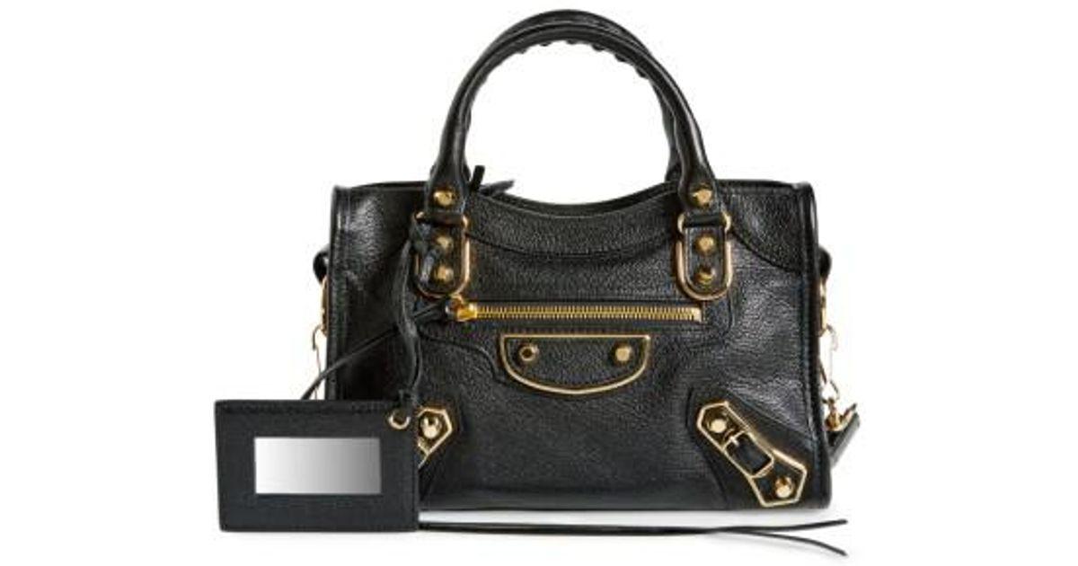 aa23abbd16 Lyst - Balenciaga Metallic Edge Mini City Bag -