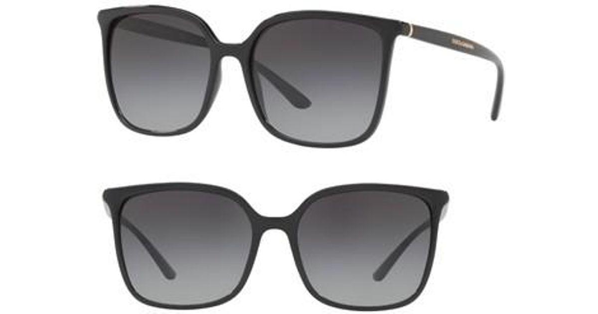 12eabb31e71e Lyst - Dolce   Gabbana 56mm Gradient Square Sunglasses in Black