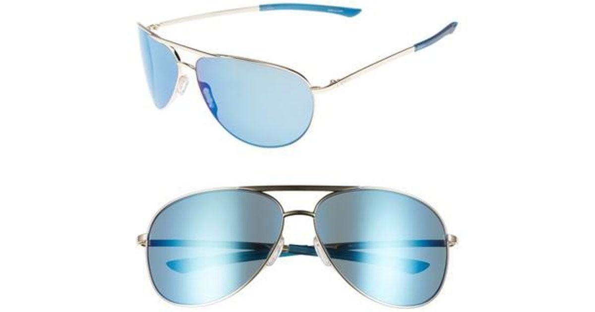 7b7b315b0b17 Lyst - Smith Serpico Slim 2.0 65mm Chromapop(tm) Polarized Aviator  Sunglasses in Blue