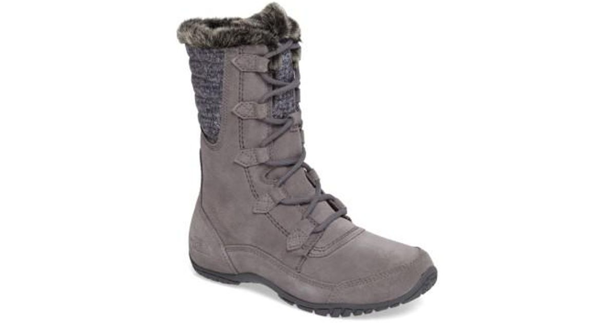 Lyst - The North Face Nuptse Purna Ii Waterproof Primaloft Silver Eco  Insulated Winter Boot in Gray d5826b204