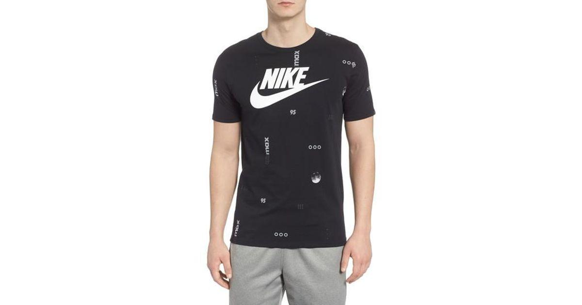 For Lyst Nike Sportswear Max Black T Print Men Air Shirt thQCBdxrs