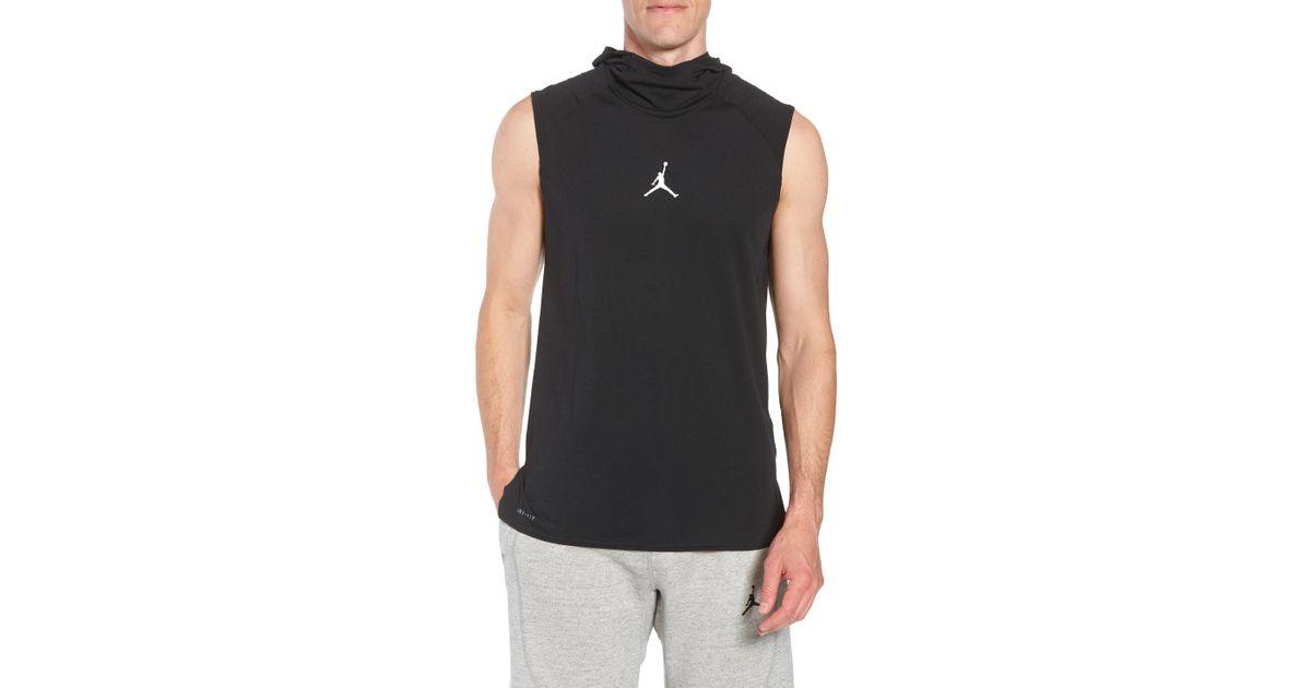 8b7b1e6f308a0 Lyst - Nike Nike 23 Alpha Dry Sleeveless Hoodie in Black for Men