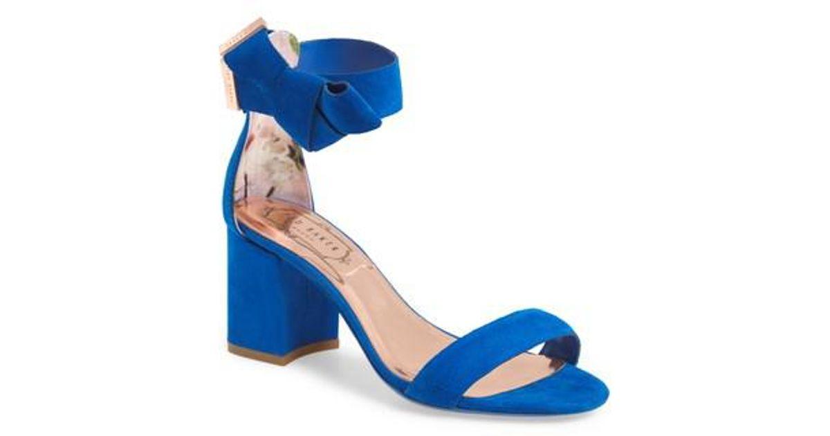 e7fad4c75f9a9f Lyst - Ted Baker Kerrias Block Heel Sandal in Blue