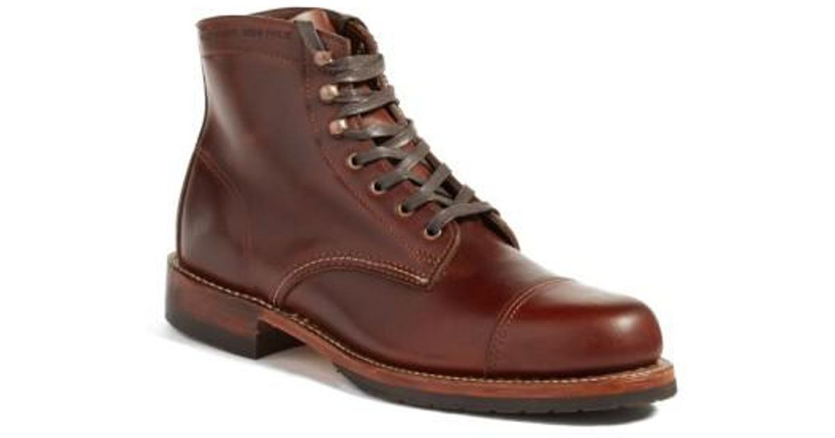 Lyst - Wolverine  adrian  Cap Toe Boot in Brown for Men f700ba78e07