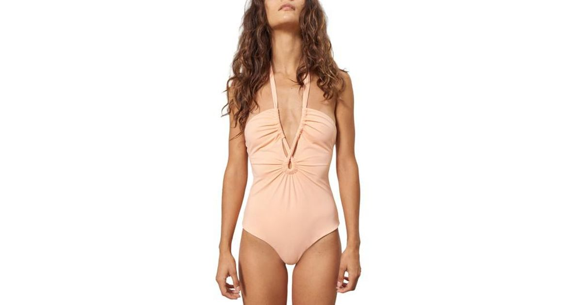 19d60e06830 Lyst - Mara Hoffman Aya One-piece Swimsuit in Natural