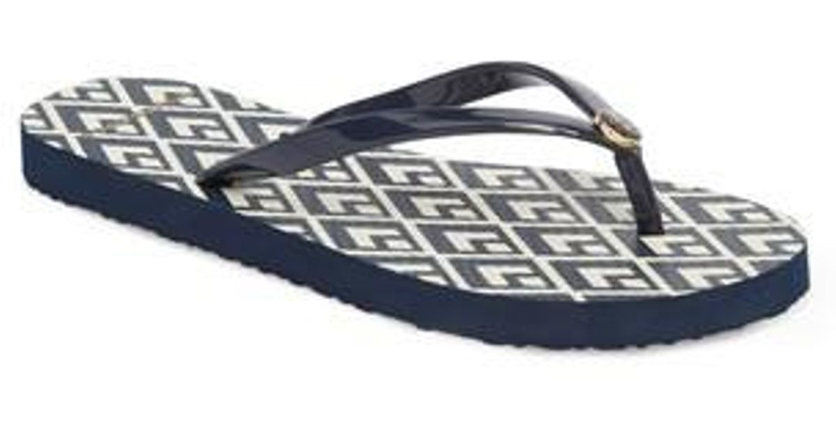 a12115af3718 Lyst - Tory Burch Thin Flip Flop in Blue for Men