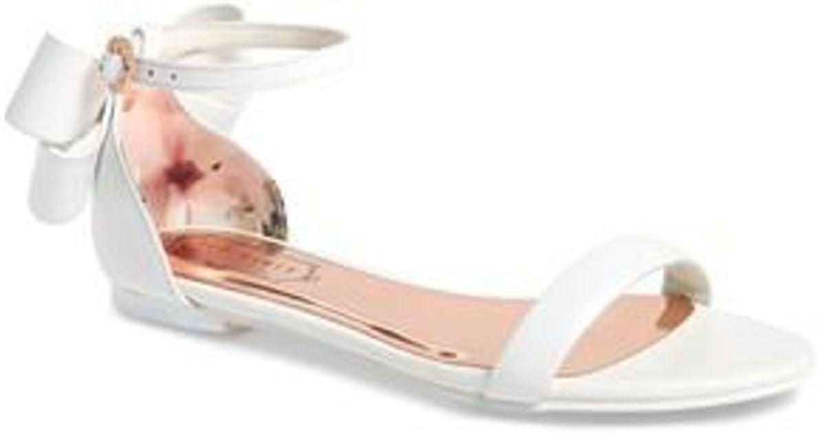 17412e8ad Lyst - Ted Baker Qaprie Ankle Strap Sandal in White