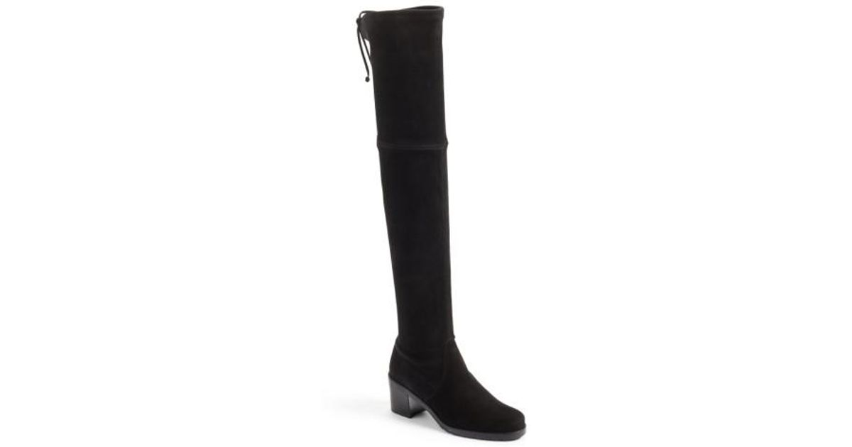 5e6f1aef0f2 Lyst - Stuart Weitzman Elevated Over-the-knee Boot in Black